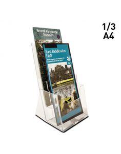 The 26 best leaflet holders images on pinterest shelf holders 2 x 13 a4 portrait leaflet holder dispenser counterstanding two tier business card sizea4counter colourmoves