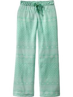 $8 pajama bottoms (got top to go with) Girls Patterned Performance Fleece Sleep Pants Old Navy
