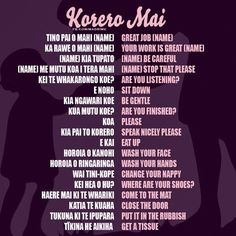 Maori words for olds. They understand everything you say!