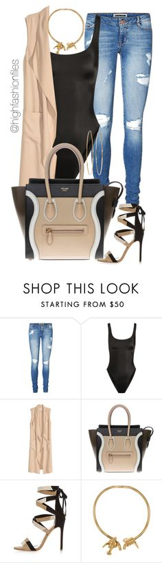 """Untitled #2477"" by highfashionfiles ❤ liked on Polyvore featuring Vero Moda, Norma Kamali, H&M, CÉLINE, River Island, AMBUSH and Jennifer Meyer Jewelry"