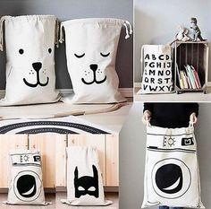 Faltbare Wäsche waschen Wäschekorb Niedlich Speicher-Beutel Lagerbehälter in Möbel & Wohnen, Haushalt, Wäsche | eBay!