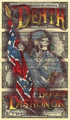 Hobo Dollar Currency Art Uncut Money Death Before by ArtsAndSoles