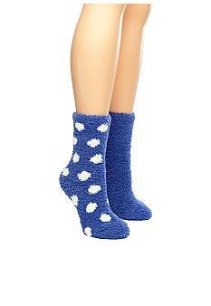 Kim Rogers Stay at Home Butter Socks - 2 Pair Pack *belk