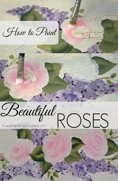 How to Paint Roses, A simple and easy tutorial to help you paint your best roses yet! The video demonstrates a nifty trick to making them look gorgeous. FlowerPatchFarmhouse.com
