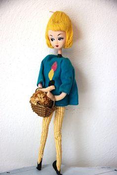 Vintage 1960s Mod Blonde Pose Doll