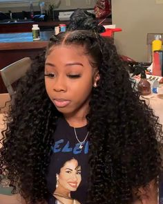 density deep curly lace wig lace frontal wig full lace wig in stock - Stock up for your salon, store or website ASAP👍🏽👍🏽, or your clients will buy from your competitors ⚠️⚠️⚠️ What's app now for deals Curly Hair Styles, Curly Weave Hairstyles, Frontal Hairstyles, Baddie Hairstyles, Natural Hair Styles, Curly Haircuts, Braids On Natural Hair, Hairstyle For Curly Hair, Black Girl Prom Hairstyles