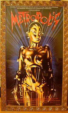 Metropolis Art Deco Poster in Art Deco Frame by haegernerd, via Flickr