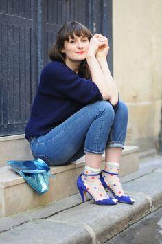 C'est fête ! --- Violaine Olga Madeleine --- Viou --- Paris, Fashion, Streetstyle, Pull Kookaï, Jeans Cos, Chaussettes American Apparel, Sandales Emma Go, Pochette Bensimon
