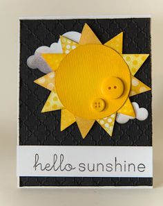 Fun patterned rays on this adorable sunny card!
