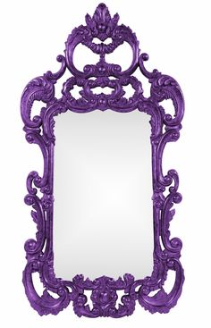 Wall Mirrors, Grand Tall Baroque Mirror, Purple High Gloss Lacquer, from InStyle Decor Beverly Hills Purple Love, All Things Purple, Purple Rain, Shades Of Purple, Purple Stuff, Deep Purple, Baroque Mirror, Black Mirror, Purple Mirror