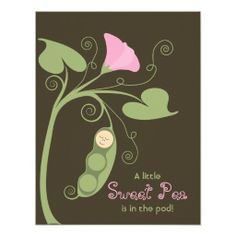 {Sweet} LIttle Pea Personalized Announcement
