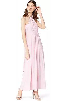 TRUTH & FABLE Women's Maxi Halter Dress