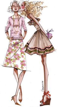 Alfredo Cabrera fashion illustration