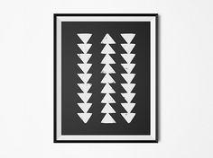 Arrows print, Native American art print, chevron, neutral color print, neutral…