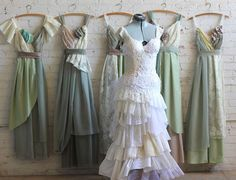 Final Payment for Victoria Benjafield's Custom Bridesmaids Dresses & Elena Gown