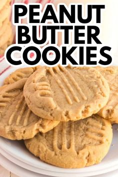 Soft and chewy peanut butter cookies are an easy baking recipe for anyone! #peanutbutter #peanutbuttercookies #cookies #cookierecipe #chewycookies #chewycookierecipe #peanutbuttercookierecipe #dessert #baking #amandascookin