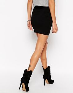 Image 2 of ASOS PETITE Mini Skirt in Jersey