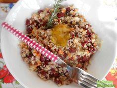 receta de ensalada de alubias, cuscus de coliflor y semillitas con salsa moztaza con miel