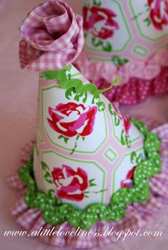 A Little Loveliness: Fabric Party Hat Tutorial