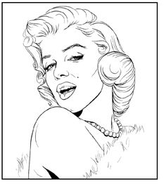 coloring pages marilyn monroe - Căutare Google