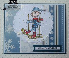 Margreet's scrapcards: Snowshoe