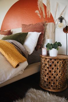 One Bed Styled Three Ways – Mary Lauren Bedroom Murals, Bedroom Decor, One Bed, Bed In A Bag, Geometric Pillow, Room Goals, Small Room Bedroom, Bed Styling, My New Room