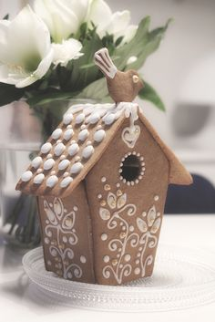 Tyylitellen Candy Land, Gingerbread Houses, Birdhouses, Xmas, Christmas, Reindeer, Cookie Recipes, Biscuits, Craft Projects
