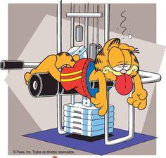Buns of steel? I'll settle for buns of marshmallow. Garfield Quotes, Garfield Cartoon, Garfield And Odie, Garfield Comics, Love Is Cartoon, Cartoon Tv, Cartoon Characters, Garfield Wallpaper, Garfield Pictures