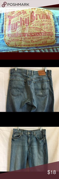 Lucky Brand Bootleg Jeans Ladies 33 Distressed Lucky Brand Bootleg Jeans. Pre-loved and delightfully distressed! Perfectly worn in:) Waist 33. Inseam 31. Hips 44. Cuff 9 1/2 inches (laying flat). Please see pictures for distress and wear. Buy two or more items from my closet and get 15% off your total purchase. Love an item but not the price? Make me a reasonable offer! Questions? Just ask! Lucky Brand Jeans Boot Cut