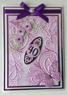 Crafter's Companion Embossing Folder , Format x (ca. x 18 cm), Spitze Butterfly Cards, Flower Cards, Crafters Companion Cards, Action Cards, Embossed Cards, Card Maker, Embossing Folder, Cool Cards, Anniversary Cards