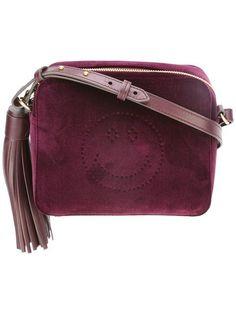 95c00c27ea27 Shop Anya Hindmarch Smiley velvet crossbody bag. Michael Kors Tote