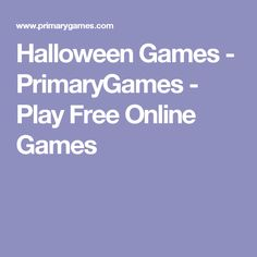Halloween Games - PrimaryGames - Play Free Online Games