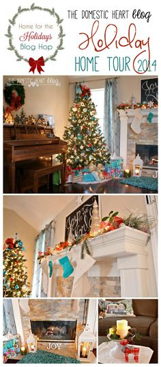 Holiday home tour at TheDomesticHeart.com, part of the #Homefortheholidaysbloghop