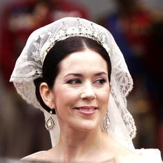 When the elegant Princess Mary wed into Denmark's royal family, she did so wearing a tiara gifted to her by her new in-laws: Queen Margrethe and Prince Henrik. Photo: © Getty Images