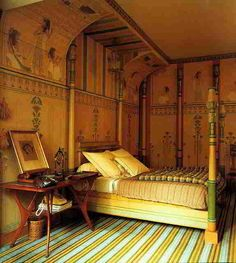 Merveilleux Shabby Castle Chic ♜ Rich And Gorgeous Home Decor   Egyptian Revival Bedroom  By Jacques Grange.