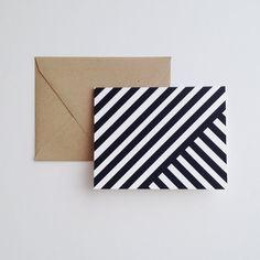 I Love Stripes Note Cards & Envelopes -- Set of 12