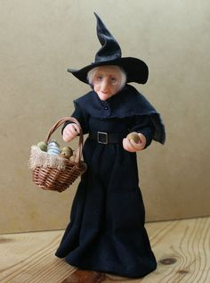 Your place to buy and sell all things handmade Dollhouse Dolls, Miniature Dolls, Dollhouse Miniatures, Witch Dolls, Apple Baskets, Fantasy Dolls, Old Folks, Fantasy Creatures, How To Introduce Yourself