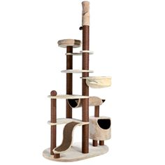 Trixie Nataniel Adjustable Cat Tree in Beige & Chocolate Brown - With four cats we need one (or two) for each room!