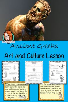 Ancient Greek Art and Culture Complete History Lesson Teaching History, Teaching Kids, Activity Games, Activities, Ancient Greek Art, Planning And Organizing, Words To Describe, Greeks, Primary School