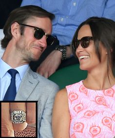 The Most Breathtaking Celebrity Engagement Rings Ever - PIPPA MIDDLETON AND JAMES MATTHEWS from InStyle.com