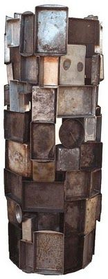 Tower of pans by Sally Mankus