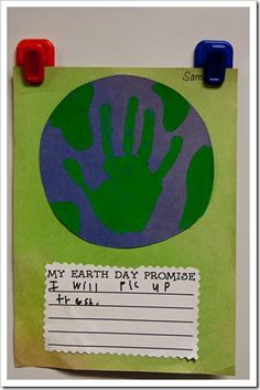 This a great activity for kids to do when learning about earth. They could do this on Earth day or you could change the title to anything you would like.