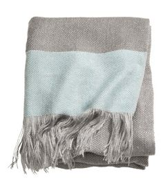woven throw blanket in seafoam/gray by h&m.