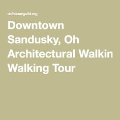 #AMTA16 local attraction: consider doing the architectural walking tour in downtown sandusky (weather permitting)!  Click on this pin to open the walking map with information, directions and history! Walking Map, Walking Tour, Ohio Attractions, Sandusky Ohio, Weather, Tours, History, Historia, History Books