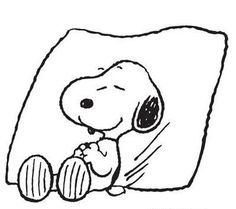 Snoopy sleeping- Goodnite to all!