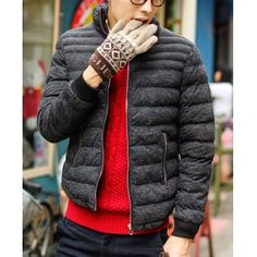 Clothes Type: Down & Parkas  Material: Polyester, Cotton  Collar: Mandarin Collar  Clothing Length: Regular  Style: Fashion  Weight: 1KG  Sleeve Length: Long Sleeves  Season: Winter  Package Contents: 1 x Coat  SizeBustLengthShoulder WidthSleeve Length M106694567 L11070466...