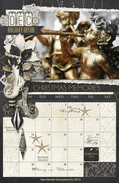 Black & White Christmas Kit Noella Collection Biggie Digital Scrapbooking Kit by Brandy Murry | ScrapGirls.com