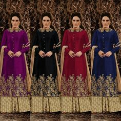 """Nakkashi Hit Design  Fabric Details :- Top :- Pure banglori silk with same as work with diamond with buttons Semistiched with collar work Bottom- Pure creap printed 3m Dupatta :- Chiffon with lace Length up to 52"""" Height 48""""  Price : 1900 INR Only ! #Booknow  CASH ON DELIVERY Available In India ! Shipping Charges Extra  World Wide Shipping Available !  PayPal / WU Accepted  Free Shipping On Prepaid Shipment In India  Stitching Service Available  To order / enquiry  Contact Us : 91 9054562754…"""