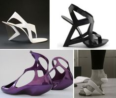 Shoes designed and/or inspired by architects including Zaha Hadid, Frank Gehry and Santiago Calatrava.