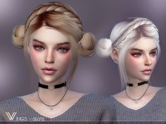 This hair style has 20 kinds of color Found in TSR Category 'Sims 4 Female Hairstyles'